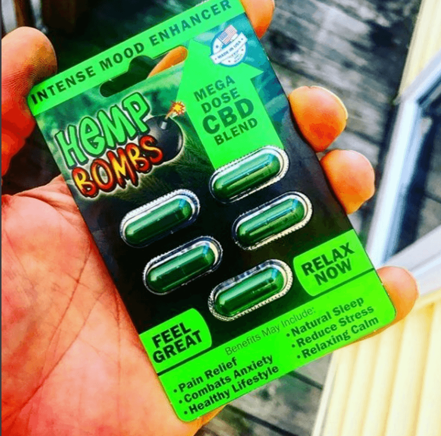 Hemp bombs capsules review and image
