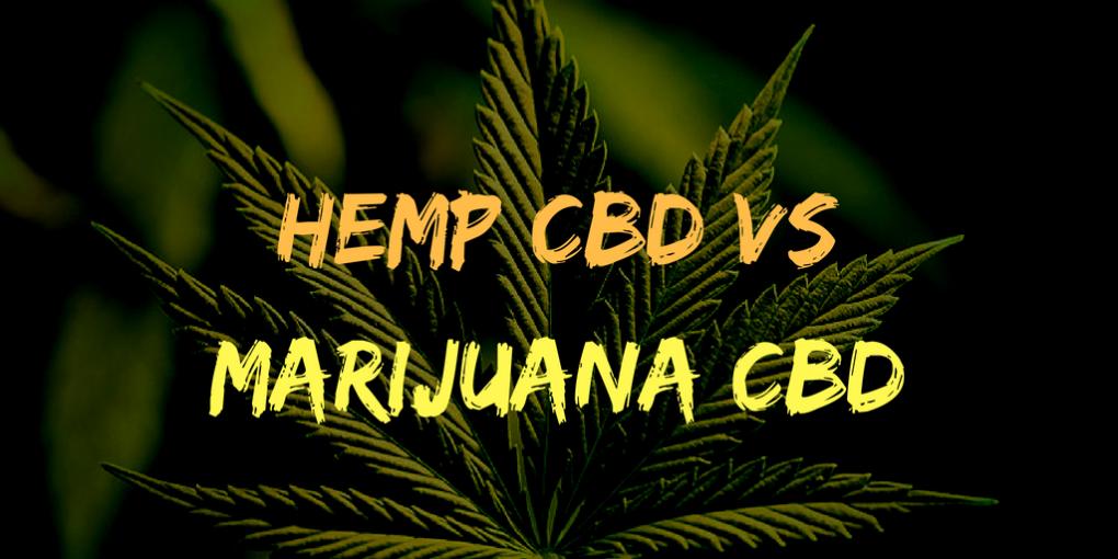 Hemp CBD VS Marijuana CBD
